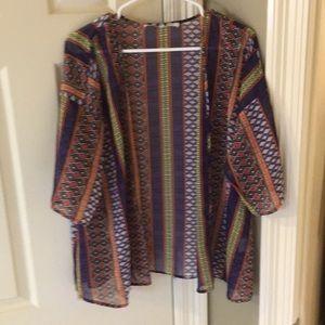 Collective Concepts printed kimono